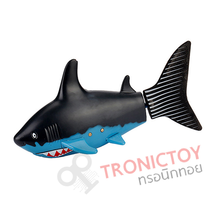 rc fish shark radio control blue black shark in can