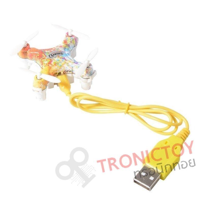 เชียร์สันโดรนจิ๋วบังคับวิทยุ สมาร์ท 4 แชแนล บินขึ้นและร่อนลงด้วยปุ่มเดียว 2.4 GHz Cheerson Smart 4 Channel Height Hold CX-10D One Touch usb cable