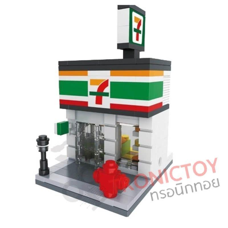 HSANHE MINI STREET 7-11 Seven Eleven Lego
