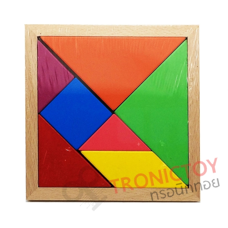 WOOD TOY COLORFUL JIGSAW LEGO BLOCK 7 PIECES