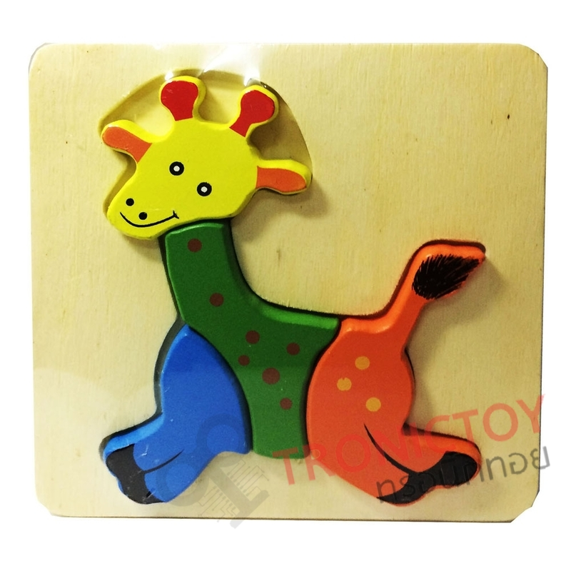 WOOD TOY ANIMAL FRUIT JIGSAW BLOCK FOR KIDS