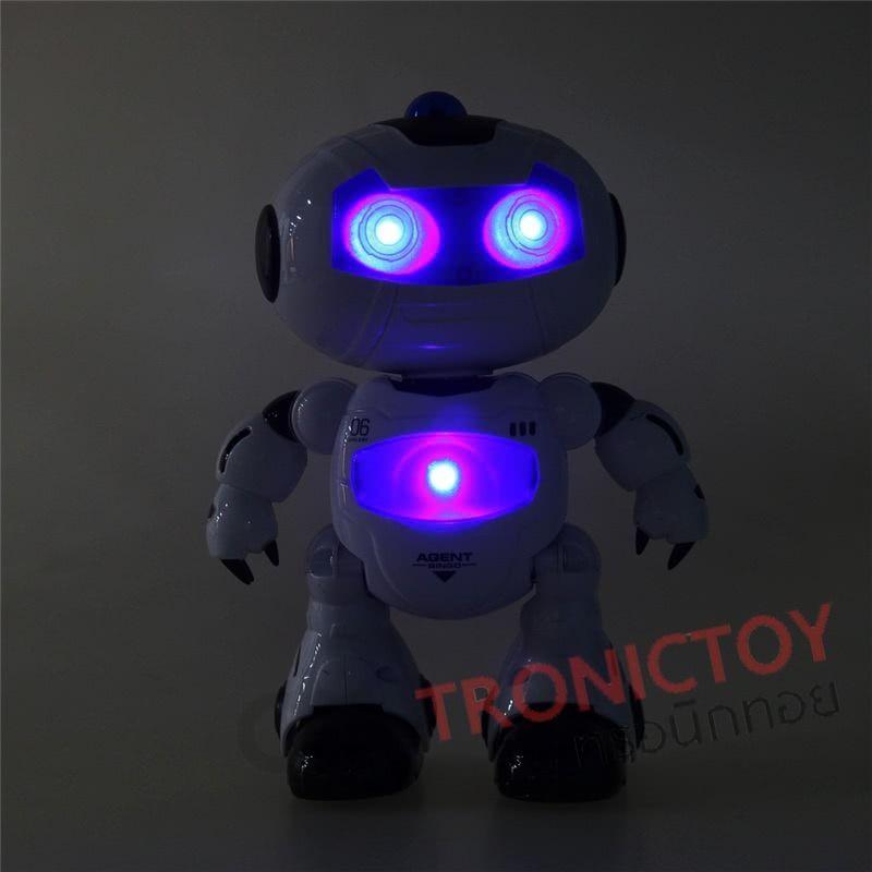 หุ่นยนต์ขาแดนซ์ เตนตามเพลง โยกๆ ส่ายๆ พร้อมไฟแสงสี เพิ่มความผ่อนคลายRC Dance Lighting and Play Music Robot Auto Demo Mode Relax Entertain ราคาถูก info