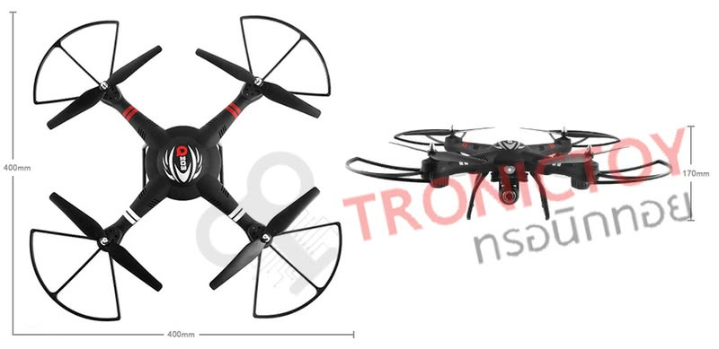 โดรนบังคับวิทยุ 4 ใบพัด ควอดคอปเตอร์พร้อมกล้องความละเอียดสูง 2 ล้านพิกเซล ไจโรสโคป 6 แกน 4 แชแนล บังคับวิทยุ WLtoys Q303-A 2.4G 4CH 6 Axis 5.8GHZ FPV RC Quadcopter RTF One Aixs Gimbal Drone with 2MP Camera