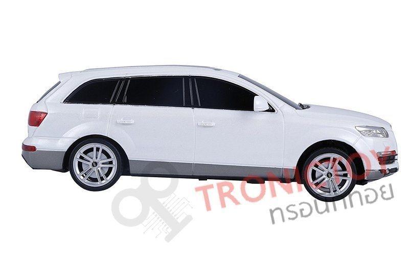รถโมเดลออดี้บังคับวิทยุ Realistic RC Audi Q7 Scale 124 Model Car สีขาว